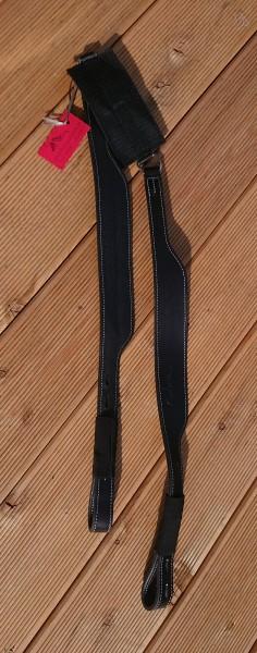 Freeform Steigbügelriemen breit - Schwarz/Silber