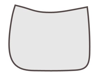 Grandeur Sattelpad - Form: Schabracke