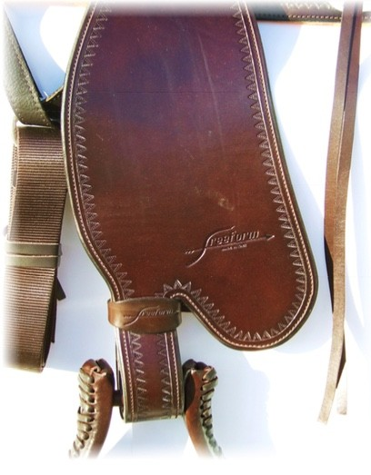 Freeform Western Fender mit Blevin-Buckles