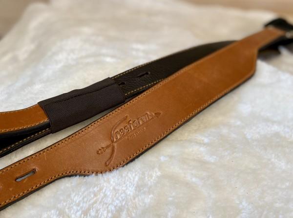 Freeform Steigbügelriemen breit - Cognac 80cm